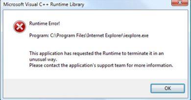 runtime error