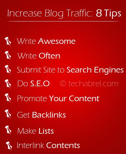 tips to increase blog traffic infogram